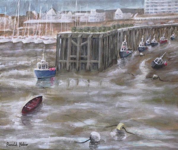 Bridlington Painting - Bridlington Harbour by Ronald Haber