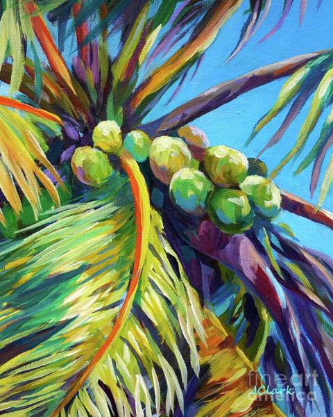 Wall Art - Painting - Bright Coconuts by John Clark