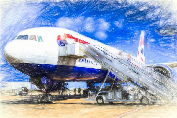 Wall Art - Photograph - British Airways Boeing 777 Art by David Pyatt