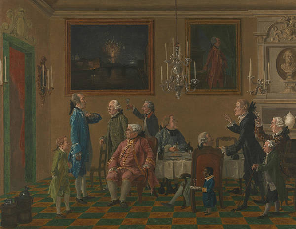 British Gentlemen At Sir Horace Mann's Home In Florence Art Print