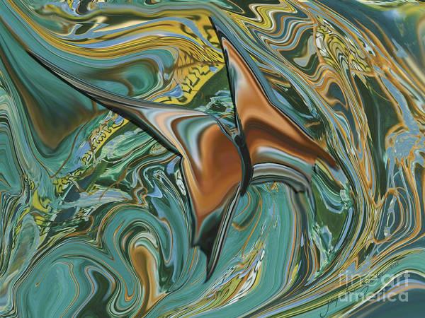 Digital Art - Bronze Butterfly by Jacqueline Shuler