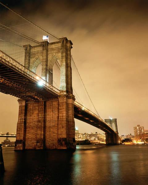 Photograph - Brooklyn Bridge At Night by Silvia Otte