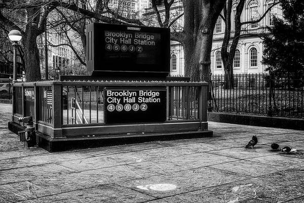 Photograph - Brooklyn Bridge City Hall Subway Station by Susan Candelario