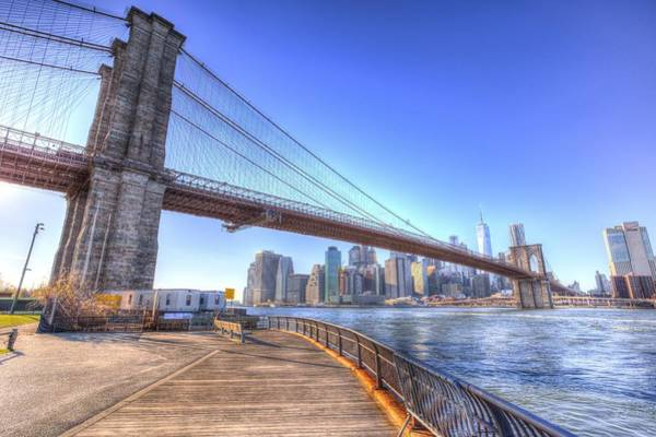 Wall Art - Photograph - Brooklyn Bridge  by David Pyatt