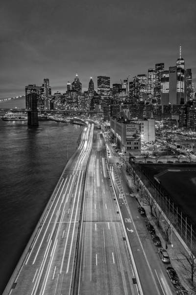 Photograph - Brooklyn Bridge, Fdr And Manhattan Skyline by Susan Candelario