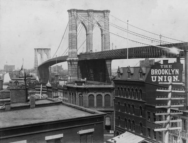 Wall Art - Photograph - Brooklyn Bridge by Hulton Archive