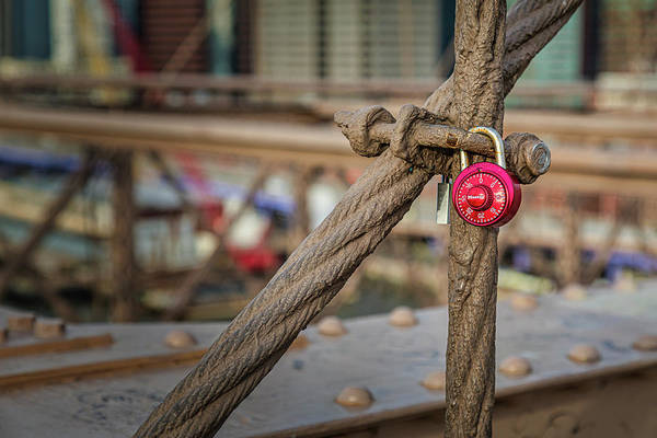 Photograph - Brooklyn Bridge Love Locks by Susan Candelario