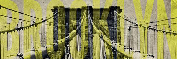 Wall Art - Photograph - Brooklyn Bridge Type by Emily Navas