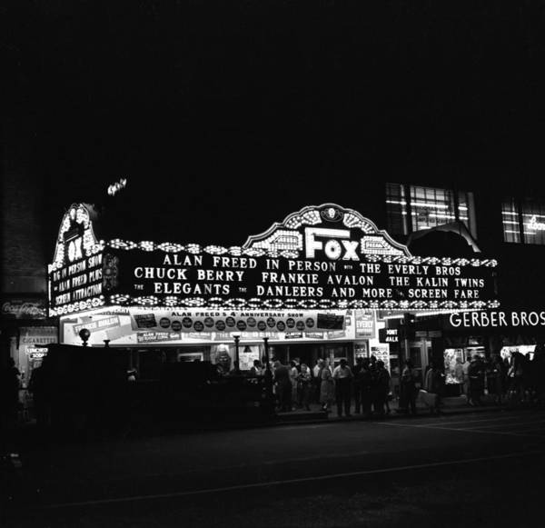 Alan Photograph - Brooklyn Fox Marquee Advertising Alan by Donaldson Collection