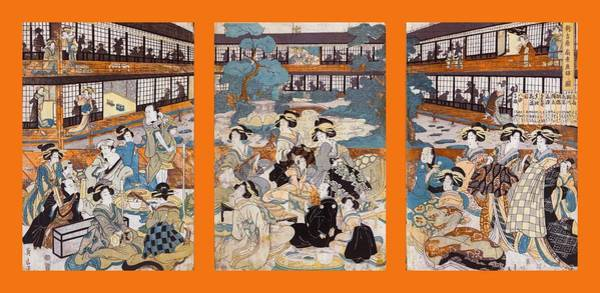 Photograph - Brothel House Of Yoshiwara - Triptych Panel-1 by Paul W Faust - Impressions of Light