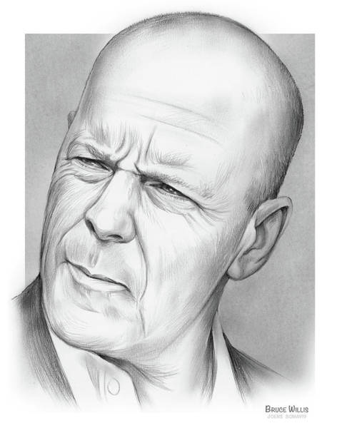 Wall Art - Drawing - Bruce Willis by Greg Joens