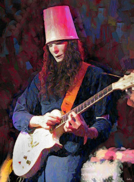 Wall Art - Mixed Media - Buckethead by Mal Bray