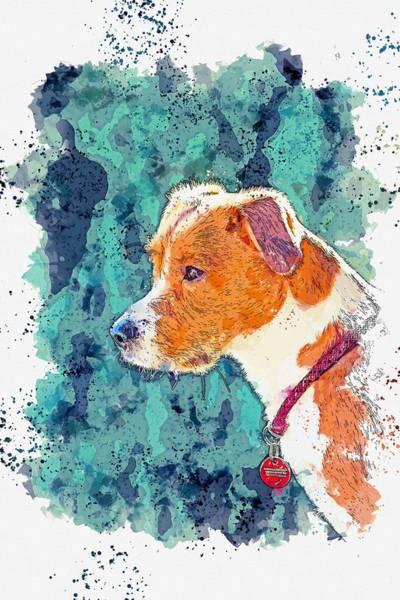 Wall Art - Painting - Buddy -  Watercolor By Adam Asar by Adam Asar