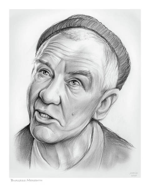 Drawing - Burgess Meredith by Greg Joens