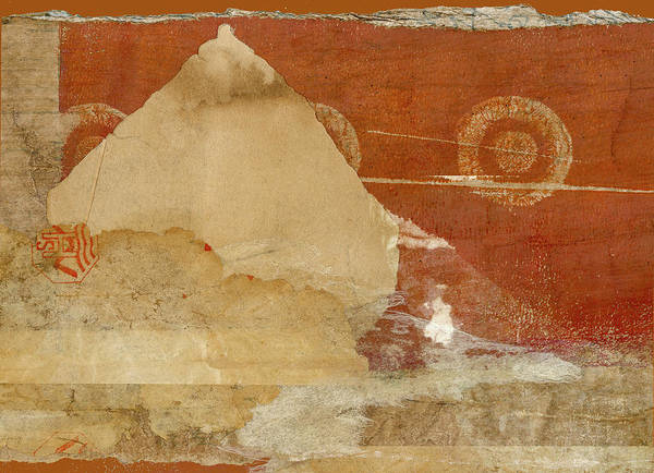 Wall Art - Mixed Media - Burnt Orange Collage by Carol Leigh