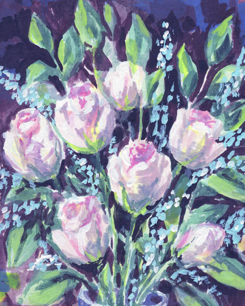 Color Burst Wall Art - Painting - Burst Of Roses Floral Impressionism  by Irina Sztukowski