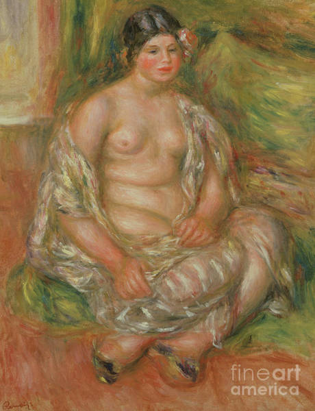 Wall Art - Painting - Bust Of Nude, 1909 by Pierre Auguste Renoir