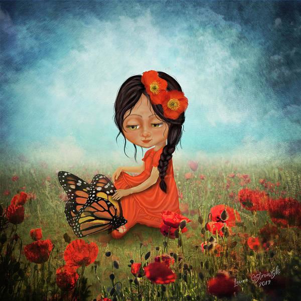 Poppies Digital Art - Butterfly Whisperer by Laura Ostrowski