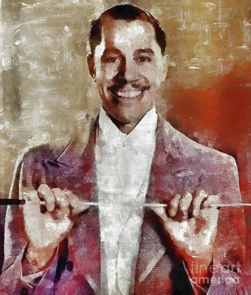 Wall Art - Painting - Cab Calloway, Music Legend by Mary Bassett