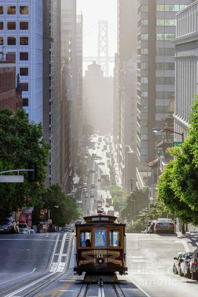 Wall Art - Photograph - Cable Car In California Street, San Francisco, California, Usa by Matteo Colombo