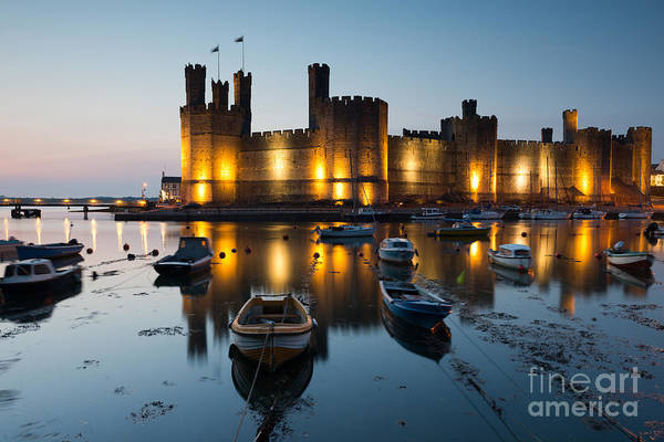 Britain Photograph - Caernarfon Castle , North Wales by Stocker1970