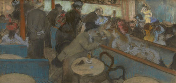Pastel - Cafe-concert by Edgar Degas