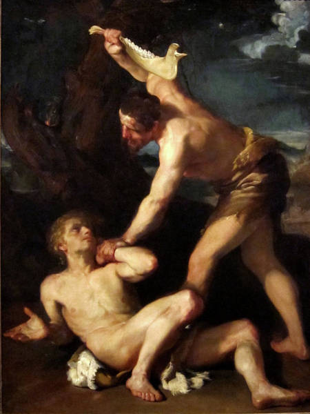 Painting - Cain Killing Abel by Francesco Maffei