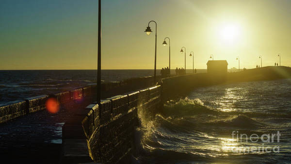 Photograph - Caleta Walkway At Sunset Cadiz Spain by Pablo Avanzini