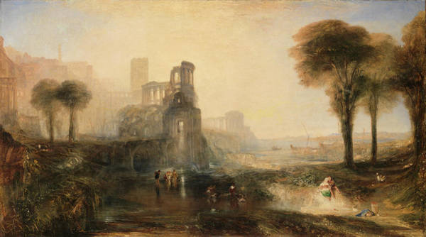 Painting - Caligulas Palace And Bridge by Joseph Mallord William Turner