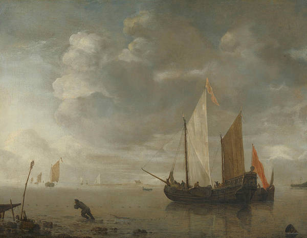 Painting - Calm Sea by Hendrick Dubbels