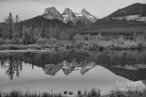 Photograph - Canmore Three Sisters Brilliant Sunrise by Adam Jewell