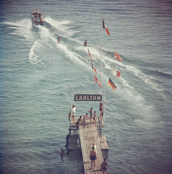 People Photograph - Cannes Watersports by Slim Aarons