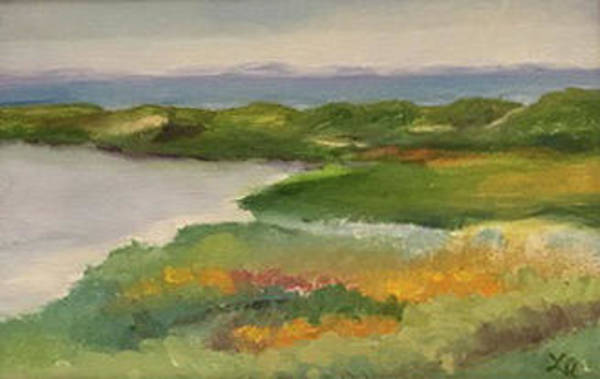 Painting - Cape Cod Overlook by Linda Anderson