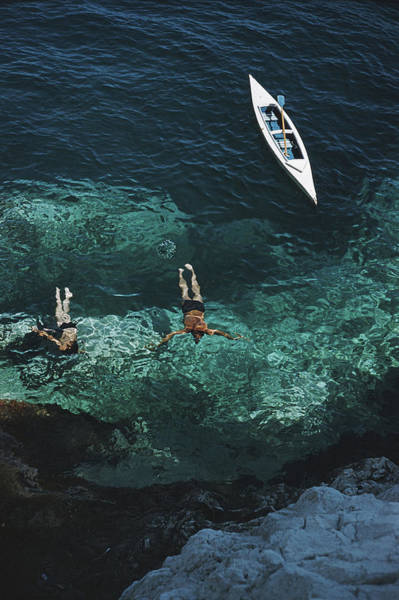 Swimming Photograph - Capri Holiday by Slim Aarons