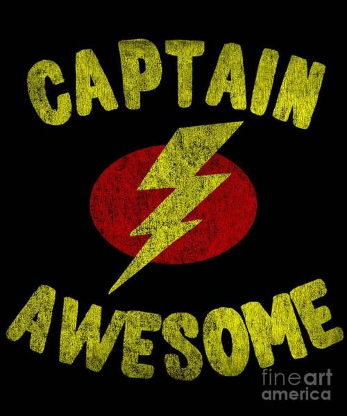 Digital Art - Captain Awesome Vintage by Flippin Sweet Gear