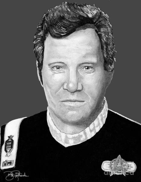 Drawing - Captain James T. Kirk by Bill Richards