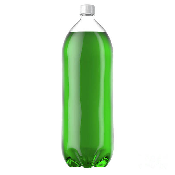 Wall Art - Digital Art - Carbonated Green Soft Drink Plastic Bottle by Allan Swart