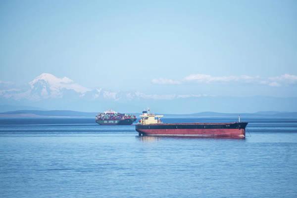 Photograph - Cargo Oil Tanker Ship In The Ocean  by Alex Grichenko
