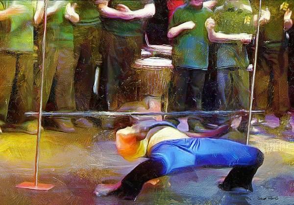 Caribbean Dance Painting - Caribbean Scenes - Limbo by Wayne Pascall
