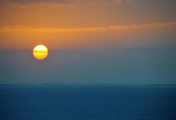 Honduras Wall Art - Photograph - Caribbean Sunset From Caribbean Cruise by Dennis Macdonald