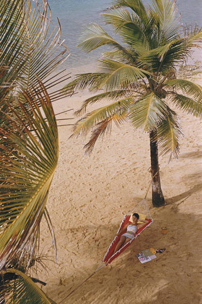 Adults Only Photograph - Caribe Hilton Beach by Slim Aarons