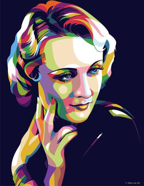 Pop Star Digital Art - Carole Lombard by Stars-on- Art