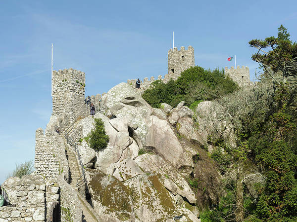 Lisbon Castle Photograph - Castelo Dos Mouros, The Moors Castle by Martin Zwick