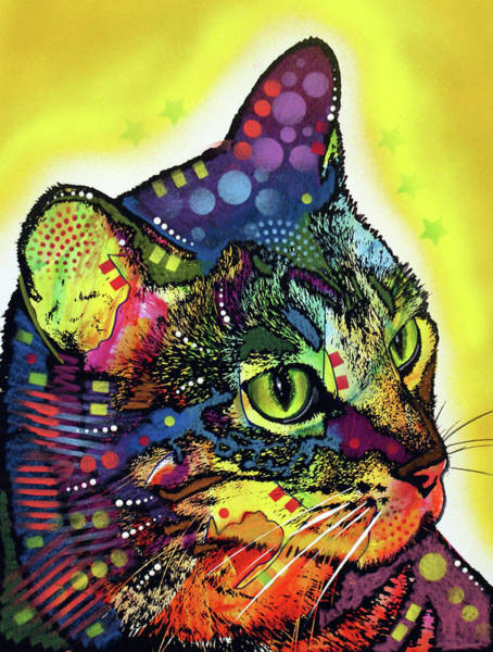 Wall Art - Painting - Cat by Dean Russo Art