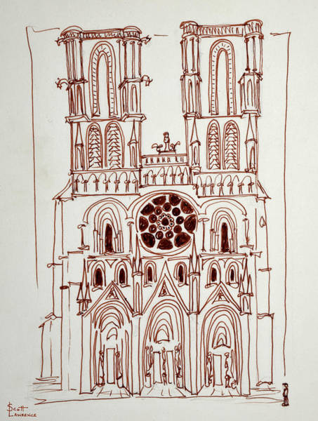 Wall Art - Photograph - Cathedral Of Notre Dame In Paris, France by Richard Lawrence