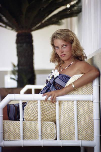Capri Photograph - Catherine Wilke by Slim Aarons