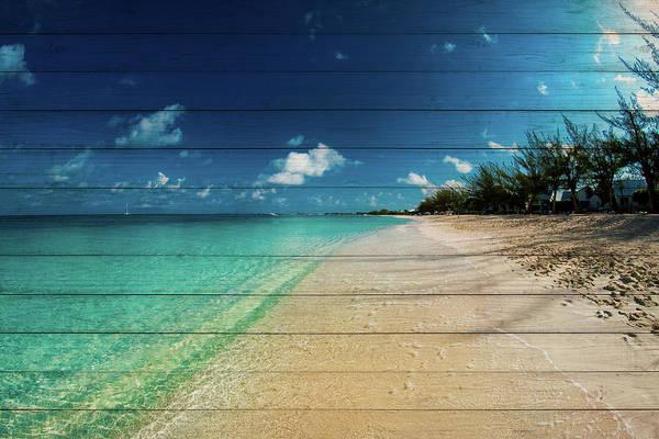 Wall Art - Photograph - Cayman Islands Beach On Wood by Bill Carson Photography