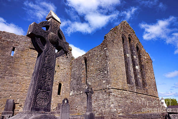 Wall Art - Photograph - Celtic Cross At Cong Abbey  by Olivier Le Queinec