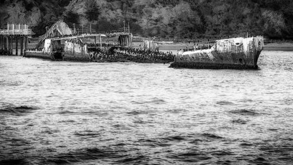 Wall Art - Photograph - Cement Ship by Steve Spiliotopoulos