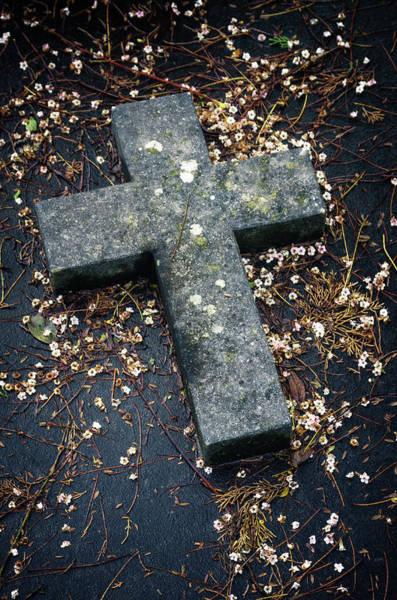 Wall Art - Photograph - Cemetery Cross by Carlos Caetano